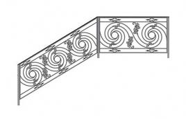 Перила кованые эскиз: экп-344