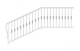 Перила кованые эскиз: экп-345