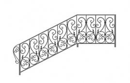 Перила кованые эскиз: экп-346