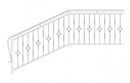 Перила кованые эскиз: экп-347