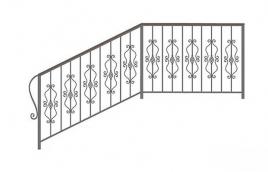Перила кованые эскиз: экп-349