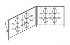 Перила кованые эскиз: экп-350