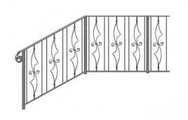 Перила кованые эскиз: экп-351