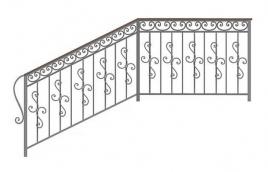 Перила кованые эскиз: экп-352