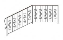 Перила кованые эскиз: экп-353