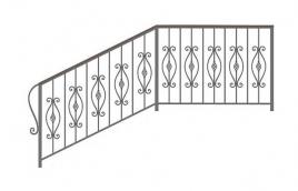 Перила кованые эскиз: экп-354