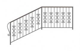 Перила кованые эскиз: экп-355