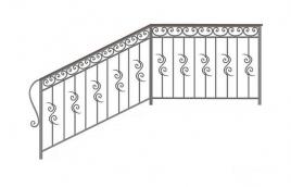 Перила кованые эскиз: экп-356