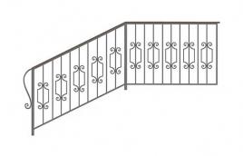 Перила кованые эскиз: экп-357