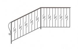Перила кованые эскиз: экп-358