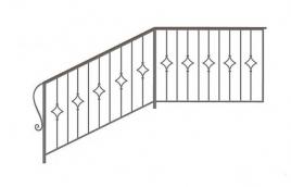 Перила кованые эскиз: экп-359