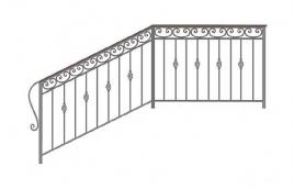Перила кованые эскиз: экп-360