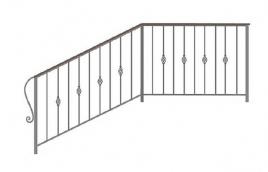 Перила кованые эскиз: экп-361