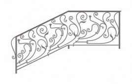 Перила кованые эскиз: экп-362