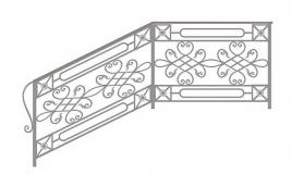 Перила кованые эскиз: экп-363