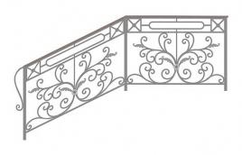 Перила кованые эскиз: экп-364