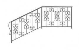Перила кованые эскиз: экп-365