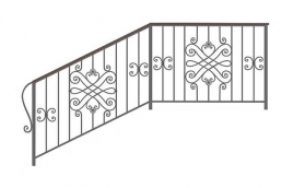 Перила кованые эскиз: экп-366