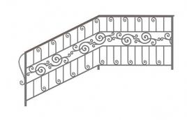 Перила кованые эскиз: экп-368
