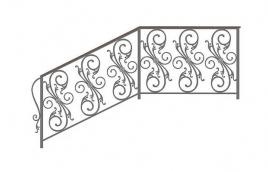 Перила кованые эскиз: экп-369