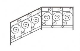 Перила кованые эскиз: экп-370