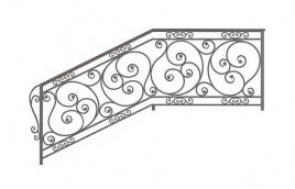 Перила кованые эскиз: экп-371