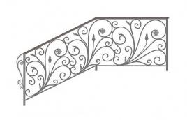 Перила кованые эскиз: экп-372