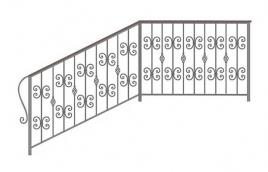 Перила кованые эскиз: экп-373