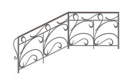 Перила кованые эскиз: экп-374