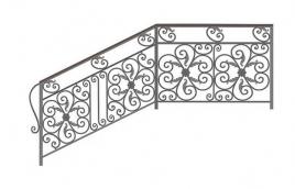 Перила кованые эскиз: экп-375