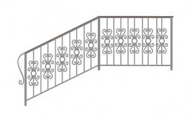 Перила кованые эскиз: экп-376