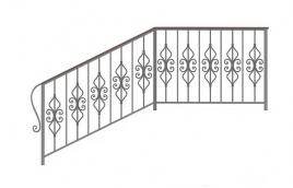 Перила кованые эскиз: экп-377