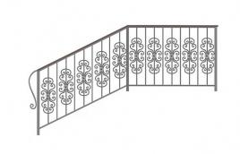 Перила кованые эскиз: экп-379