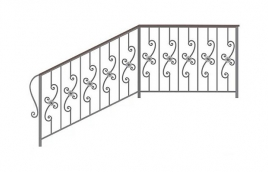 Перила кованые эскиз: экп-380