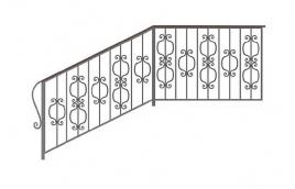 Перила кованые эскиз: экп-381