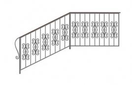 Перила кованые эскиз: экп-382