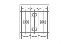 Решетка кованая эскиз: экр-603
