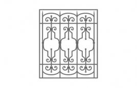 Решетка кованая эскиз: экр-611