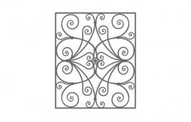 Решетка кованая эскиз: экр-622