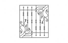 Решетка кованая эскиз: экр-625
