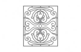 Решетка кованая эскиз: экр-626