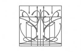 Решетка кованая эскиз: экр-629