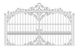 Ворота кованые эскиз: экв-401