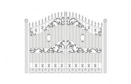 Ворота кованые эскиз: экв-402