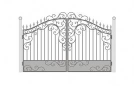 Ворота кованые эскиз: экв-404