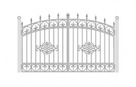 Ворота кованые эскиз: экв-405