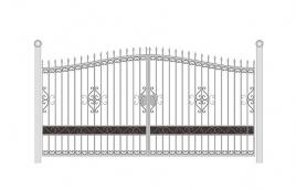 Ворота кованые эскиз: экв-407