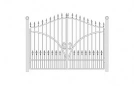 Ворота кованые эскиз: экв-408