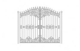 Ворота кованые эскиз: экв-409