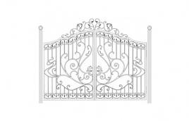 Ворота кованые эскиз: экв-410